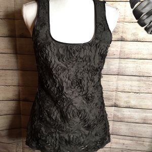 W BY WORTH sleeveless floral top size 8